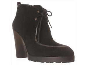 MICHAEL Michael Kors Beth Wedge Lace-Up Ankle Booties - Black, 6 M US / 36 EU