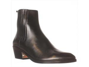 Michael Kors Patrice Flat Ankle Boot - Black, 8 M US / 38 EU