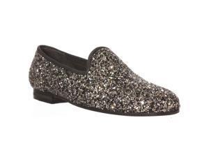Ramon Tenza Taylor Flat Loafers - Glitter Pewter, 7 M