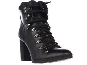 Calvin Klein EveeLace Up Casual Heeled Boots - Black, 6 M US