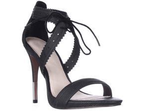 Pour La Victoire Shanna Front Tie Sandals - Black Lizard, 9 M US