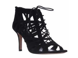 Pour La Victoire Charlize Cut-Out Lace Up Dress Sandals - Black Suede, 8.5 M US