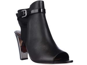 Donald J Pliner Aria Peep Toe Open Heel Booties - Black, 9.5 M US
