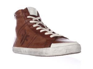 FRYE Dylan High Top Fashion Sneakers - Cognac, 9 M US