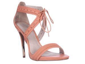 Pour La Victoire Shanna Front Tie Sandals - Coral, 7.5 M US