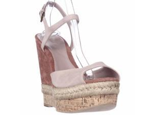 Gucci C2000 Cork Espadrille Wedge Platform Ankle Strap Sandals - Dark Cipria, 11 M US / 41 EU