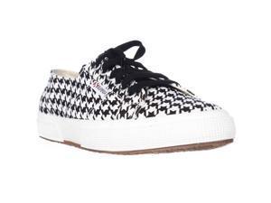 Superga 2750 Piedepoulew Fashion Sneakers - White/Black, 6 M US / 36.5 EU