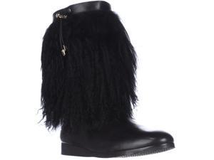 MICHAEL Michael Kors Lizzi Mid Fuzzy Winter Boots - Black, 11 M US