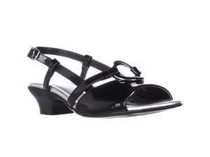 Easy Street Tempe Dress Slingback Sandals - Black Patent, 6.5 M US