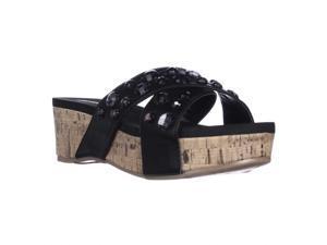 Kenneth Cole REACTION Step Inside2 Gem Slide Platform Sandals - Black, 7 M US / 37.5 EU