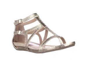 Kenneth Cole Lost Time Dress Gladiator Sandals - Light Gold, 5.5 M US / 35.5 EU
