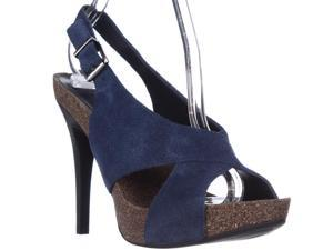 BCBGeneration Greer Slingback Platform Sandals - Blue Night, 10 M US / 40 EU
