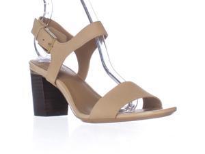 Calvin Klein Cimi Ankle Strap Dress Sandals - Sandstorm Leather, 7 M US