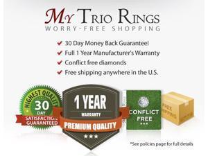 1 1/3 Carat T.W. Round Cut Diamond Ladies Engagement Ring 14K Yellow Gold- Size