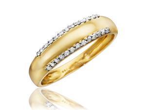 1/4 CT. T.W. Round Cut Diamond Men's Wedding Band 10K Yellow Gold- Size 7