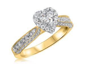 3/4 CT. T.W. Diamond Ladies Engagement Ring 10K Yellow Gold- Size 5