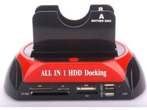 "All in 1 HDD Docking 876C 2.5"" 3.5"" SATA HDD 2-Dock Docking Station e-SATA/Hub"