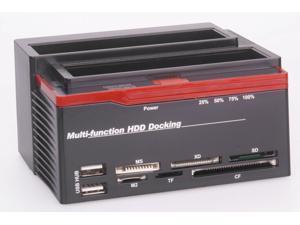 892U2S Multi-function HDD USB 2.0 to SATA Dual-docking Station for 3.5 SATA HDD Enclosure