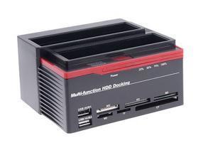 Multi function HDD Docking WLX 893U2S Support Sata IDE USB 2.0 Hub MS XD SD M2 TF CF Card Reader