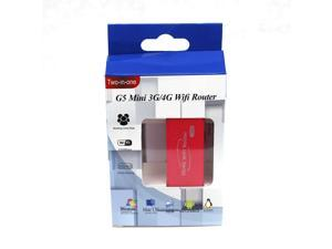 Portable Wireless WiFi Router 2 in 1 G5 Mini 3G/4G WiFi Router 150Mbps Red