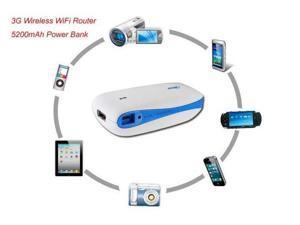 Wireless Router of 3G Mobile Power H-G100 3G 4G Hotspot Wireless WiFi MiFi Router 5200mAh Power Bank