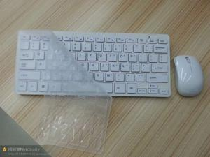 2.4GHz Wireless Keyboard Mouse Combo White mini keyboard for Desktop Computer Accessories with Protective Cover