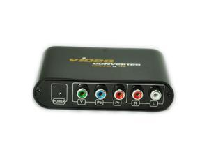 New LKV7611 YPbPr toCVBS/S-Video Component to AV&S-Video Converter Connect X-Box Wii TV Player Box