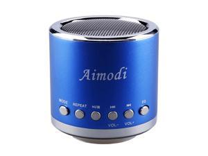 Bluetooth Speakers Portable Built-in Usb Disk Micro-sd card player,Disk/TF card, support MP3 format songs,in MP3,MP4 & mobile phone, FM radio function MN02 Blue