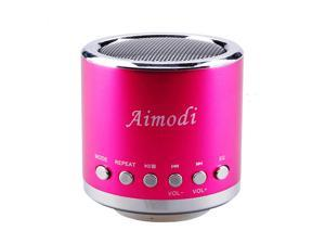 Bluetooth Speakers Portable Built-in Usb Disk Micro-sd card player,Disk/TF card, support MP3 format songs,in MP3,MP4 & mobile phone, FM radio function MN02 Pink