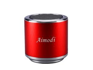 Bluetooth Speakers Portable Built-in Usb Disk Micro-sd card player,3.0W,Disk/TF card, support MP3 format songs,in MP3,MP4 & mobile phone, FM radio function MN06 Red
