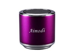 Bluetooth Speakers Portable Built-in Usb Disk Micro-sd card player,3.0W,Disk/TF card, support MP3 format songs,in MP3,MP4 & mobile phone, FM radio function MN06 Purple
