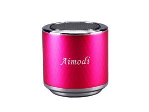 Bluetooth Speakers Portable Built-in Usb Disk Micro-sd card player,3.0W,Disk/TF card, support MP3 format songs,in MP3,MP4 & mobile phone, FM radio function MN06 Pink