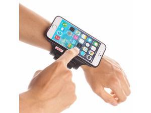 TFY Open-Face Sport Armband + Detachable Case for iPhone 6, Black & Black belt - (Open-Face Design - Direct Access to Touch Screen Controls)