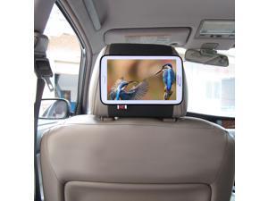 TFY Car Headrest Mount Holder for 7-Inch Samsung Galaxy Tab 3, Fast-Attach Fast-Release Edition, Black
