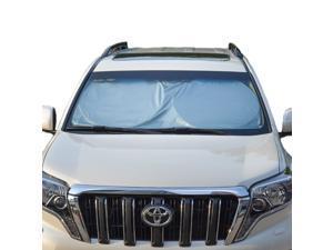 TFY Universal Car Windshield Sunshade Sun Visor Easy Foldable Vehicle Blinds