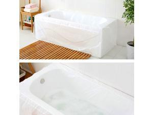 TFY Ultra Large Disposable Film Bathtub Bag for Salon, Household and Hotel Bath Tubs (78 inch x 47 inch)- 5 pieces