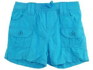 Star Ride Little Girls' Toddler Adjustable Cargo Woven Bermuda Board Shorts, Blue, 3T