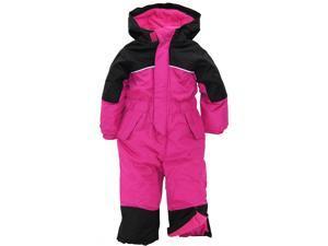 iXtreme Little Girls' Snowmobile 1-Piece Winter Snowsuit Snowboard Ski Suit, Pink Glow, 5/6