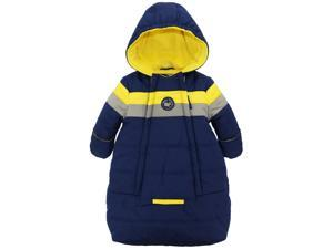 iXtreme Baby Boys Snowsuit Colorblock Stripes Puffer Carbag, Navy, 3-6 Months