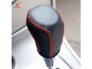 Leather Gear Shift Knob Cover for 2013 2014 2015 2016 Toyota RAV4 /2012 2013 2014 2015 2016 2017 Toyota Camry /2014 2015 2016 Toyota Corolla /2012-2015 Toyota Prius C /2015 2016 Toyota Yaris Automatic