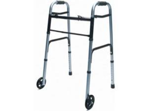 "Lumex ColorSelect Adult Walker with Wheels - EVERYDAY WALKER W/ 5"" WHEELS DUAL RELEASE RED 1EA - 716270R-1"