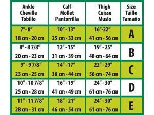 CURAD Thigh Length Compression Hosiery 20-30mmHg,Beige,C, HOSIERY,COMPR,THIGH,20-30,SIZE C,BEIGE - 1 EA
