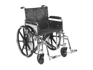 Drive Medical Sentra Reclining Wheelchair with Detachable Desk Arms Model std22rbdda