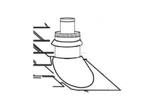 Direct Vent Fireplace Roof Terminals Type: Roof Terminal Kit / 1/12 to 7/12 P...