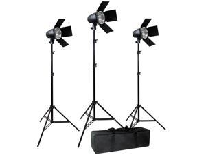 Lusana Studio Video Photo Film 3 Barndoor Tungsten Lighting Kit Case LNG2760