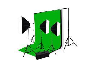 2400 Watt video photo studio continuous green screen lighting kit NEW GEP090
