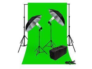 Lusana Studio Chromakey Green Screen Kit 800 Watt Video Lighting Kit LNG3370
