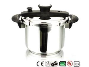 CONCORD Stainless Steel 8 QT Pressure Cooker. Heavy Pot Tri-Ply Bottom UL Listed
