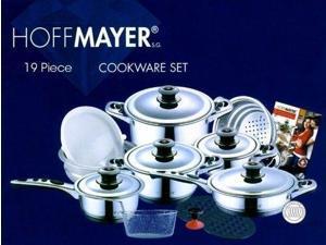 HOFFMAYER 19 Pc Premium Surgical Stainless Steel Cookware Set (Saucepan, Pots)