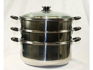 CONCORD 28CM Stainless Steel 3 Tier Steamer Steam Pot Cookware